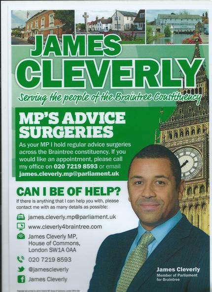 James Cleverly poster